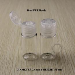Wholesale Emulsion Bottle - 50PCS 10ml D23*H56mm PET Cream Emulsion Bottle Vials Lotion Bottle Cosmetic Packaging Makeup Container Transparent Flip Lid