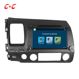 Wholesale Honda Dvd Player Gps - Quad Core HD 1024*600 Android 5.1.1 Car DVD Player for Honda Civic Left Driving 2006-2011 with GPS Radio Wifi Mirror link