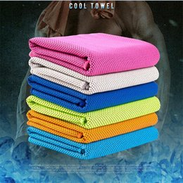 Wholesale Gym Bath Towels - High Quality Double Layer Ice Cooling Face Towels Icy Cold Chilling Towel Outdoor & Indoor Gym Yoga Activities Reusable For Sports 100pcs