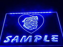 Wholesale Ul Housing - DZ076b- Name Personalized Custom Pug Dog House Home LED Neon Beer Sign