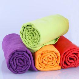 Wholesale Microfiber Sports Towel Camping - Wholesale 4pcs lot 40x75cm Sports Towel Microfiber Towel Travel Camping Swim Gym Washcloth Cloth With Bag toalha de esportes