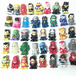 Wholesale Venom Figures - Random 30X Ooshies Pencil toppers Batman Drax Venom Surperman Batman DC Comics Marvel Heroes Figure Toy