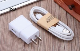 Wholesale Color Usb Ac Wall Charger - USB Wall Charger 5V 2A AC Travel Home Charger Adapter US EU UK Plug for Samsung Galaxy Note 5 4 S7 S6 Edge Plus A8 A7 White Color
