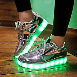 Wholesale Unisex Shoes For Adults - Wholesale-2016 Shining 11 Colors Luminous Sport LED Shoes men with Lighted for Adults Light Up Shoes led Women Glowing USB Charging Shoes