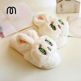 Wholesale Big Prints Canvas - Wholesale-Millffy Summer silky velvet fish mouth big eyes adorable bunny rabbit slippers waterproof non-slip indoor home slippers
