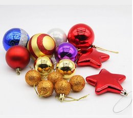 Wholesale Plastic Christmas Ornament Balls - Hot selling Christmas Decorations Christmas Packs Christmas Tree Decorations Christmas Balls Christmas Tree Decoration Package Gifts