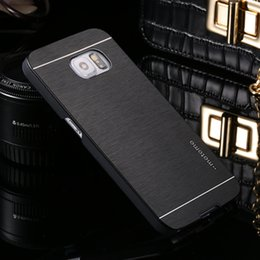 Wholesale Hot Hard Cover Case - Deluxe Motomo Aluminum Metal Brush Hard Back Cover Case for Samsung Galaxy S6 S7 s7Edge Note 7 4 5 High Quality Hot Luxury