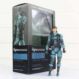 Wholesale Metal Gear Model - Anime METAL GEAR SOLID 2: SONS OF LIBERTY Figma 243 Snake PVC Action Figure Collectible Model Toy 16cm free shipping