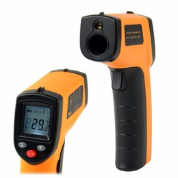 Wholesale Infrared Handheld Thermometer - LCD Non-Contact Pyrometer Digital IR Infrared Laser Point RRP Thermometer Temperature Meter Gun Handheld -50~330°C FREE SHIPPING