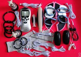 Canada Kit de choc électrique Chock Machine de thérapie de choc électrique Dispositif de masturbation masculine BDSM Gear Jeux de sexe pour adultes Produits Jouets Offre