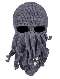 Wholesale Face Golf - 2018 Unisex Octopus Knitted Wool Ski Face Masks Event Party Halloween Knitted Hat Squid Cap Beanie Cool Gifts Mask