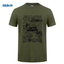 Wholesale Monkey Design Clothing - USAprint High Quality Men Clothing T Shirts Arctic Monkeys Top Design Rock Roll Camisetas Homme Hombre White Cotton Short Sleeve