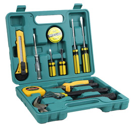 Wholesale Tire Repair Kit For Cars - Hot New DIY Modification Home Garden Work 12pcs set Outdoor Hardware Tools Suit Portable Alloy Steel Kit Tools Suit for Car