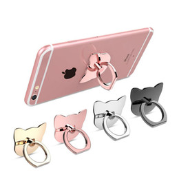 Wholesale Iphone Glitter Mixed - 360 Degree Metal Finger Ring Holder Cat,Love,glitter,diamond luxury women for iphone 8x grip mount cell Phone stand