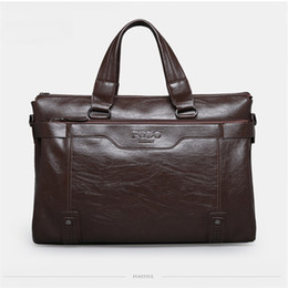 Wholesale Messenger Shoulder Bag Briefcase - 2017 New Hot sale brand name designer men bags shoulder tote men messenger bags briefcase computuer mens bag
