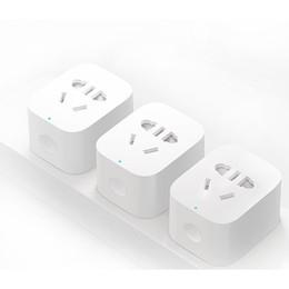 Wholesale Socket Home Plug - Smart home Wireless Power Plug with uk eu au us Socket WiFi Remote Control Switch with phone Original xiaomi plug Free shipping