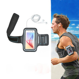 Wholesale Baseball Iphone Cases - Running Arm Band Case For iphone 4 5 6 7 8 Galaxy S6 S7   Edge S8 Note 8 5 Anti sweat fitness running workout Hand Bag Phone Holder