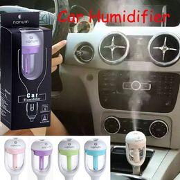 Wholesale Car Fragrance Spray - Nanum Car Plug Air Humidifier Purifier,Vehicular essential oil ultrasonic humidifier Aroma mist car fragrance Diffuser