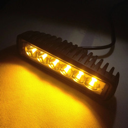Wholesale Led Amber - big sale led amber light bar for fog Driving offroad boat lamp, 18w led work light bar