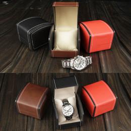 2019 boîte cadeau de luxe boucle d'oreille Boîtes à cadeaux de luxe en cuir PU Watch Box Box avec étui en cuir avec oreiller pour bracelet boucles d'oreilles boîte d'emballage boîte cadeau de luxe boucle d'oreille pas cher