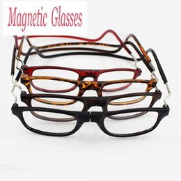 Wholesale old colors - Folding Magnetic Reading Glasses With Diopter +1.0 +1.5 +2.0 +2.5 +3.0 +3.5 +4.0 Men Women Spectacles Old People 4 colors