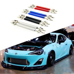 barras de varilla Rebajas Nuevo 1 par 100 mm 150 mm Car Styling para Universal Fitting delantero / trasero parachoques Protector Lip Rod Splitter Strut Tie Bars Kit de soporte Accesorios