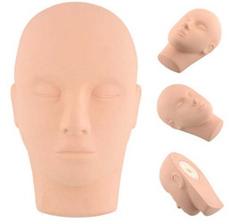 Wholesale Head Mannequin Wholesale - Delicate Soft PVC Half Mannequin Heads for Target Practice Head-form Mannequins Training Head Mould Practice Model Head free shipping