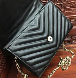 Wholesale Handbags Cross Shoulder Bags - Women messenger bags luxury handbags women bags designer shoulder bag ladies clutch purses and handbags black chain bag tote bolsa feminina