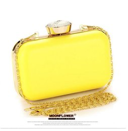 Wholesale Solid Color Clutch Bags - Free shipping new womens dinner hand bag bag for dinner and fluorescence candy color hand bag crystal perfume bottledress brand Dinner Bag