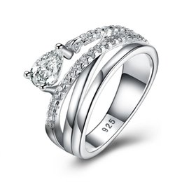 Wholesale Christmas Decoration China - Jewelry Wholesale China-Tibet groove bar setting cubic zirconia 930 sterling silver decoration three stone ring women rings Christmas
