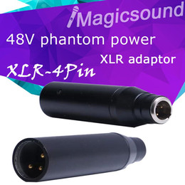 Wholesale Xlr 4pin - High Quality New Instrument Mic XLR Adaptor TA4F Mini 4Pin Condenser Mic Phantom Power Adapter for Mixer or PA System