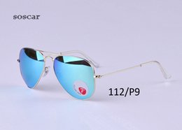 Wholesale Original Flash Drive - UV400 Polarized Sunglasses Brand Designer Sunglasses for Man Women Pilot Style Metal Frame Flash Mirror Lenses 58mm 62mm with Original Box