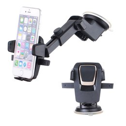 Wholesale galaxy note one - New Easy One Touch Car Mount Universal Phone Desk Windshield Cup sucker Holder for iPhone X 8 7 Plus Galaxy S8 Note 8 DHL free OTH657