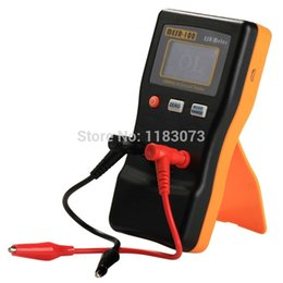 Wholesale Tester Meter Circuit - LCD Auto Display Digital ESR Capacitance resistance Meter 100 KHz In Circuit Tester Capacitance Capacitor Test