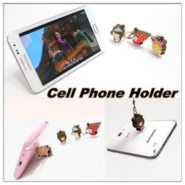 Wholesale Suction Plug - Cute cartoon character suction-cup mobile phone dustproof plug and mobile phone holder for mobile phone
