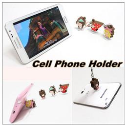 Wholesale Dustproof Plug Mobile Phone - Cute cartoon character suction-cup mobile phone dustproof plug and mobile phone holder for mobile phone