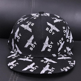Wholesale New Boy London - Spring and summer new flat eaves hip hop hats men and women Korean tide boy London sweet and lovely baseball cap wholesale
