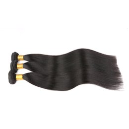 Wholesale Cheap Wholesale Online - 7a Virgin Indian hair Straight Indian virgin hair, Mixed Length unprocessed Indian hair bundles cheap human hair weave online
