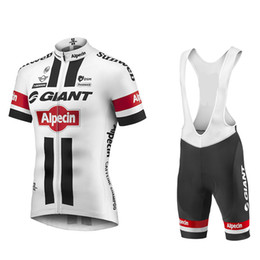 Wholesale Giant Cycling Jersey White - 2016 white GIANT Sportswear Mountain Bike Ropa Ciclismo MTB top Bicycle Wear Cycling Jersey clothing Shirt Bib Shorts sets