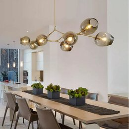 Wholesale Dinning Room Art - new Lindsey Adelman Chandeliers lighting modern lamp novelty pendant lamp natural tree branch suspension Christmas light hotel dinning room