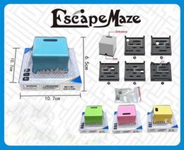 Wholesale Plastic Blinds - Wholesale Inside 3 Escape Maze Labyrinth Cube Blind Maze Challenge Educational Intelligent Toy Novelty Fidget Toys OTH121