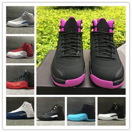 Wholesale cow boots - Wholesale with box 12 MASTER taxi playoffs men women12s low gym red basketball shoes sports sneakers boots size 36-47