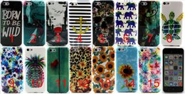 Wholesale Mini S4 Phone Cases - For iPhone SE 5 5S 6 6S Samsung Galaxy S4 mini TPU Flower alphabet elephant Wolf stripe Pattern Protective Cell Phone Back Cover