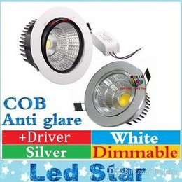 Wholesale Led Cob Ceiling - cob led cree downlight 9w 12w 15w 18w dimmable led recessed ceiling down lights AC 110-240V free shipping