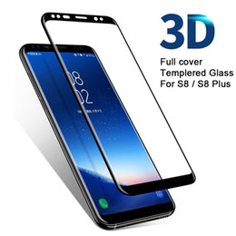 Wholesale Retail Box Cover - For Samsung Galaxy S8 Screen Tempered Glass 3D Full Cover Curved Screen Protector Film For Samsung Note 8 Samsung S7edge With Retail Box