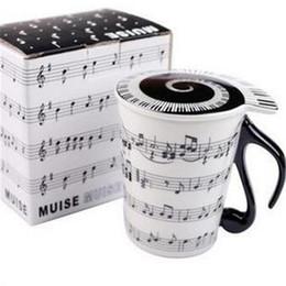Llave capo online-Tazas resistentes al calor Universal de una sola capa Vaso redondo Nota musical Claves de madera Patrón Cerámica Taza creativo 7 79tt B