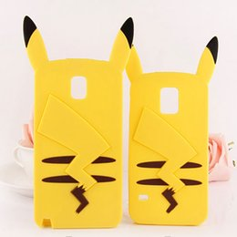 Wholesale Galaxy 4s Case Cover Cute - Cute 3D Cartoon Animal Poke Pikachu Silicone Case for iPhone 6 6S Plus 5S 5 4S Samsung Galaxy S5 S6 S7 J5 J7 Grand Prime Duos Phone Cover