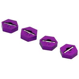 Wholesale Rc Car Wl - RC WL A580037 Purple Alum Wheel Hex 8mm Drive Mount 4PCS For 1:18 WLtoys A949