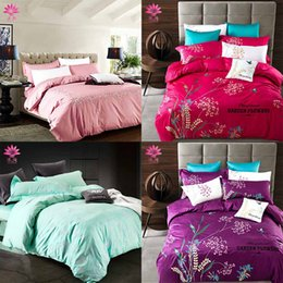 Wholesale Brands Bedding Sets - muchun Brand Cotton Bedding Sets 4 pcs Bedding Comforter Set Duvet Covers Jacquard Bedsheet Pillow Case Wholesale 12 Colors Queen