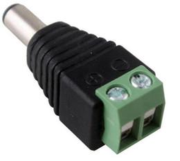 Штекерное гнездо 2,1 мм постоянного тока онлайн-Камеры видеонаблюдения 2,1 мм х 5,5 мм Мужской адаптер питания постоянного тока Разъем постоянного тока Разъем для подключения штекерного разъема для CCTV LED Light